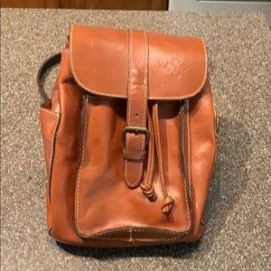 Patricia Nash Italian Leather Backpack